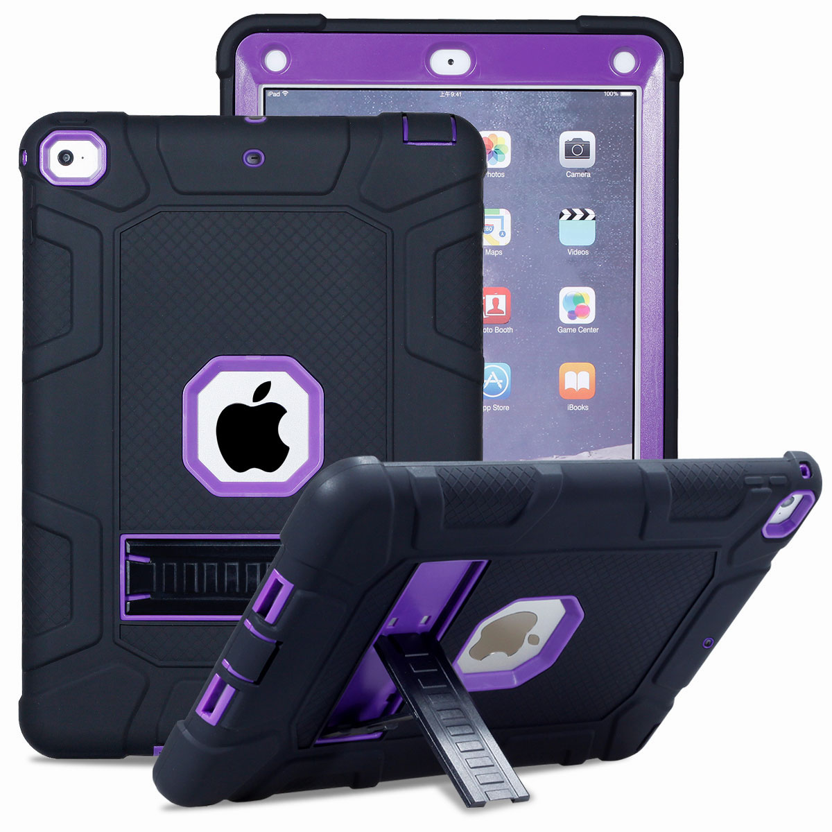 Heavy Duty Military Shockproof Armor Protection Case Cover For iPad Mini 1 2 3 4
