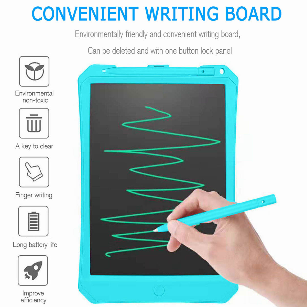 11 Inch Kids LCD Writing Drawing Tablet Pad Memo Boards Notepad with Stylus