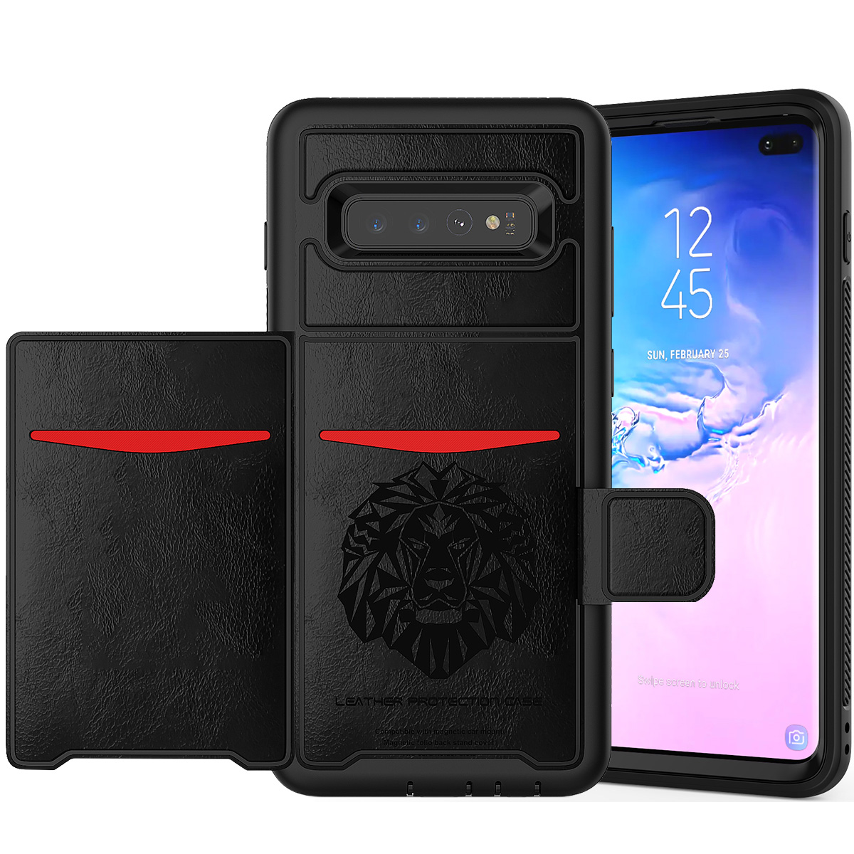 PU-Leather-Credit-Card-Holder-Phone-Case-For-Samsung-Galaxy-S10-Plus-S10e-2019 thumbnail 12