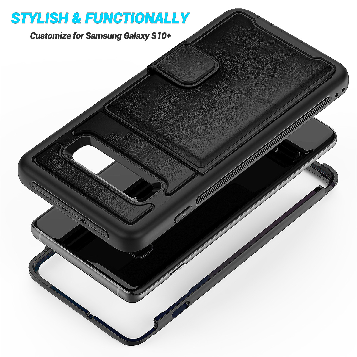 PU-Leather-Credit-Card-Holder-Phone-Case-For-Samsung-Galaxy-S10-Plus-S10e-2019 thumbnail 16