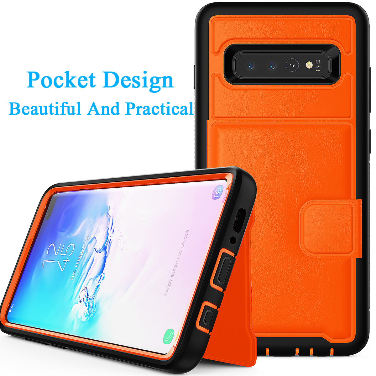 PU-Leather-Credit-Card-Holder-Phone-Case-For-Samsung-Galaxy-S10-Plus-S10e-2019 thumbnail 18