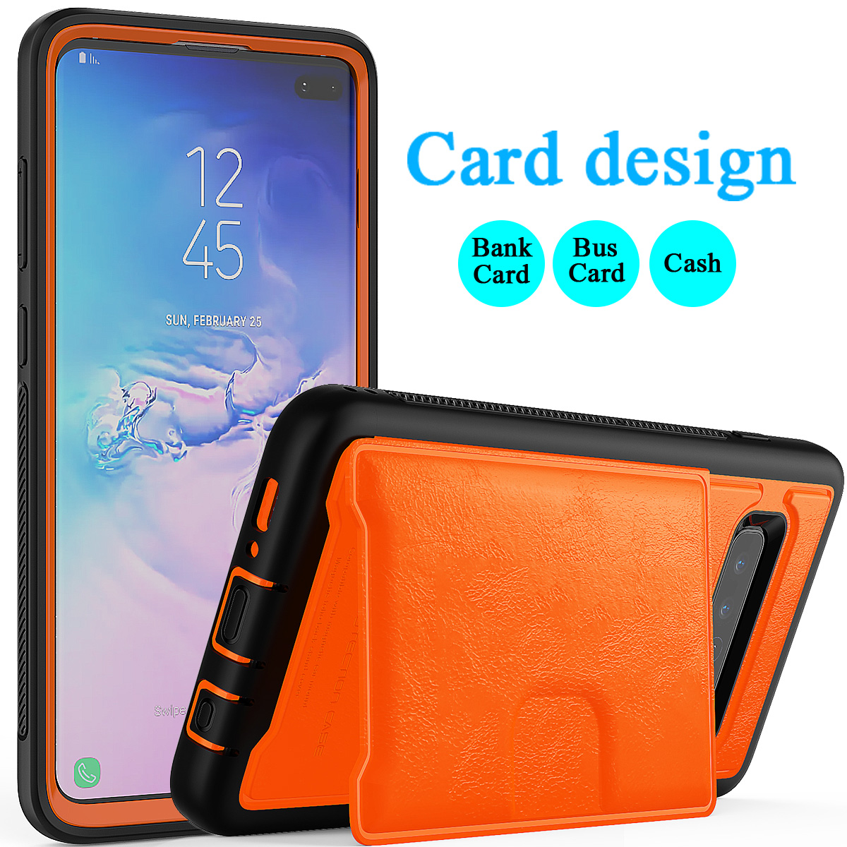 PU-Leather-Credit-Card-Holder-Phone-Case-For-Samsung-Galaxy-S10-Plus-S10e-2019 thumbnail 19