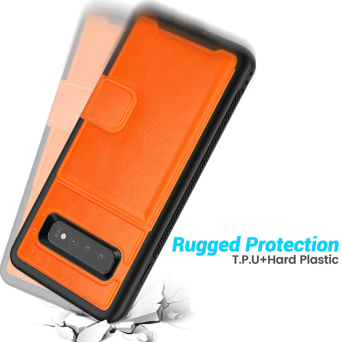 PU-Leather-Credit-Card-Holder-Phone-Case-For-Samsung-Galaxy-S10-Plus-S10e-2019 thumbnail 20