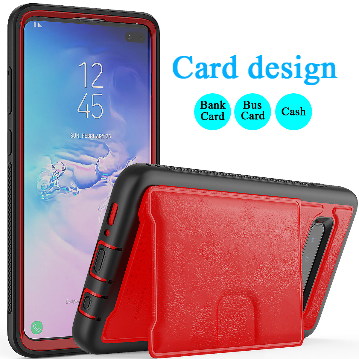 PU-Leather-Credit-Card-Holder-Phone-Case-For-Samsung-Galaxy-S10-Plus-S10e-2019 thumbnail 24