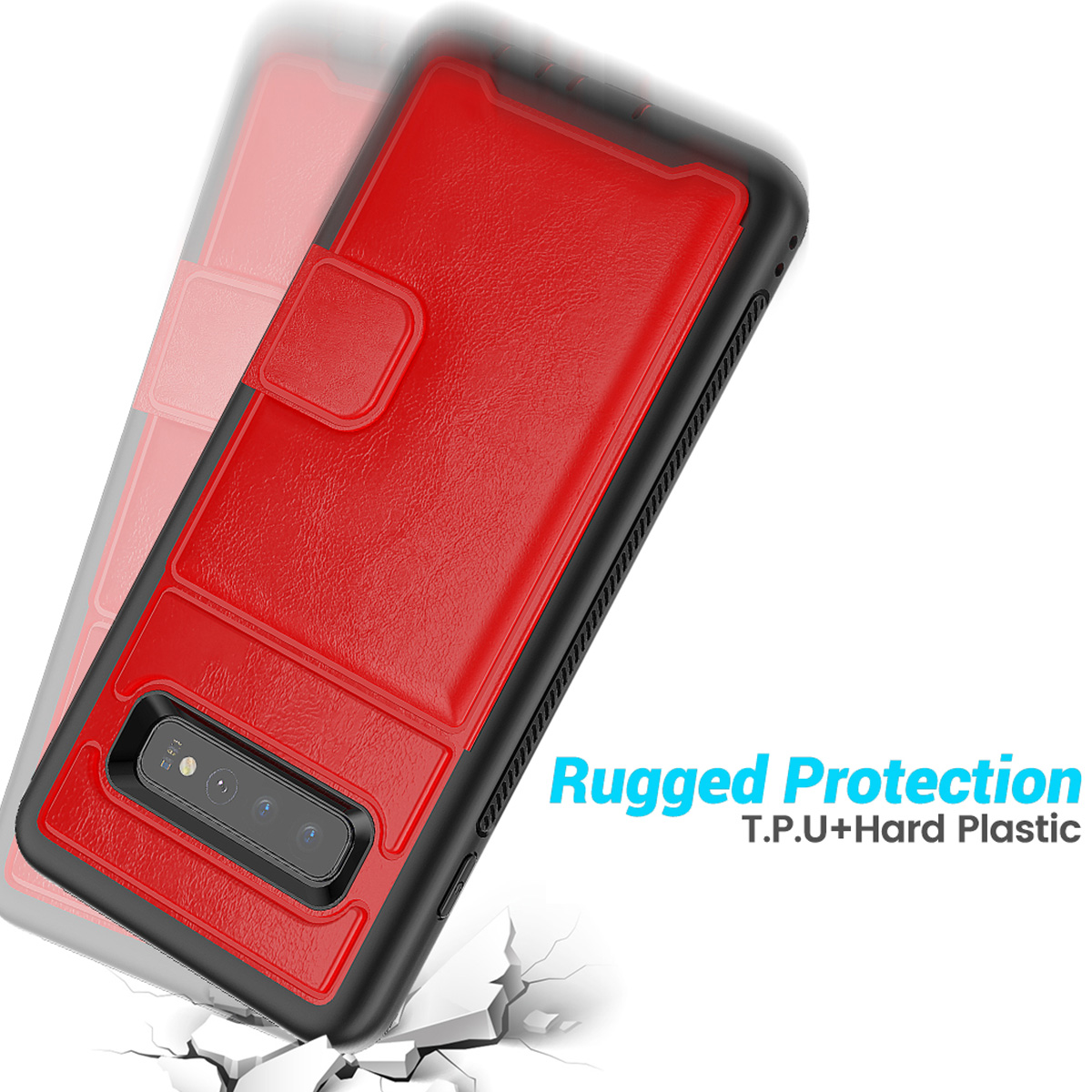 PU-Leather-Credit-Card-Holder-Phone-Case-For-Samsung-Galaxy-S10-Plus-S10e-2019 thumbnail 25