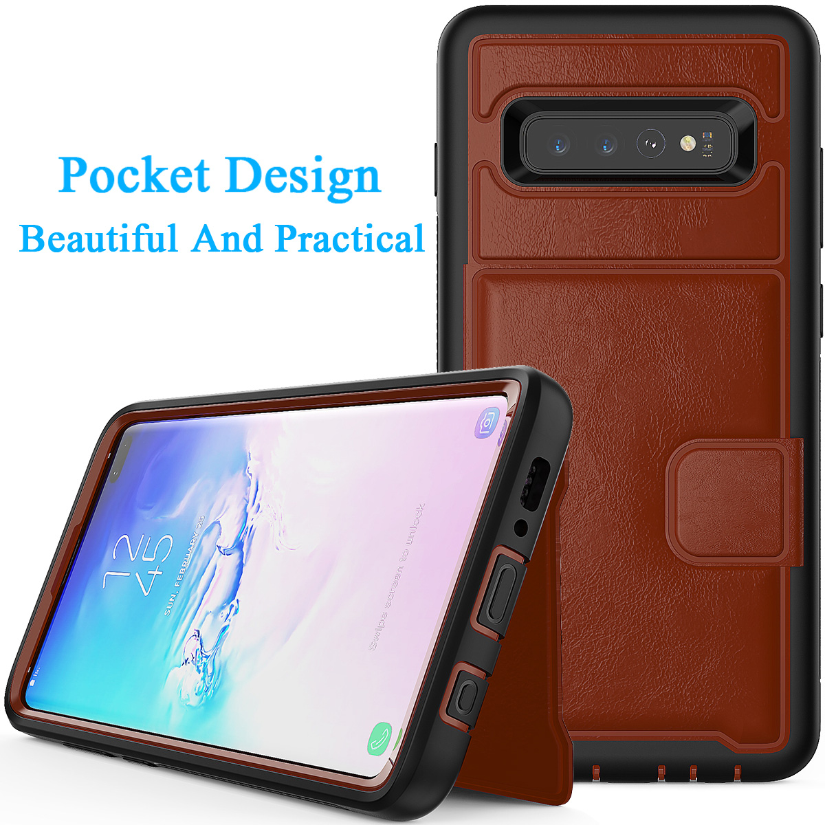 PU-Leather-Credit-Card-Holder-Phone-Case-For-Samsung-Galaxy-S10-Plus-S10e-2019 thumbnail 28