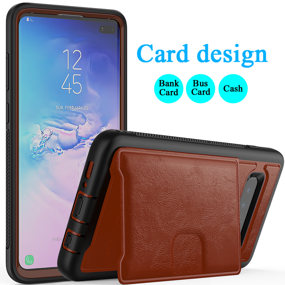 PU-Leather-Credit-Card-Holder-Phone-Case-For-Samsung-Galaxy-S10-Plus-S10e-2019 thumbnail 29