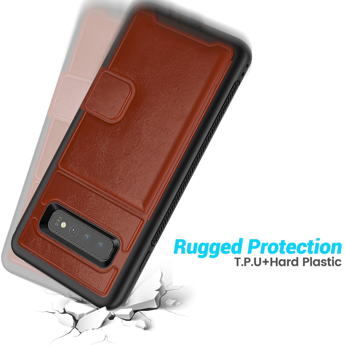 PU-Leather-Credit-Card-Holder-Phone-Case-For-Samsung-Galaxy-S10-Plus-S10e-2019 thumbnail 30