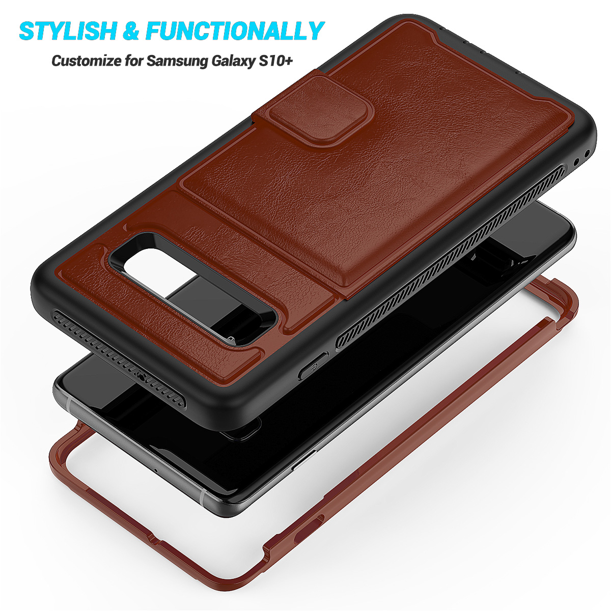 PU-Leather-Credit-Card-Holder-Phone-Case-For-Samsung-Galaxy-S10-Plus-S10e-2019 thumbnail 31