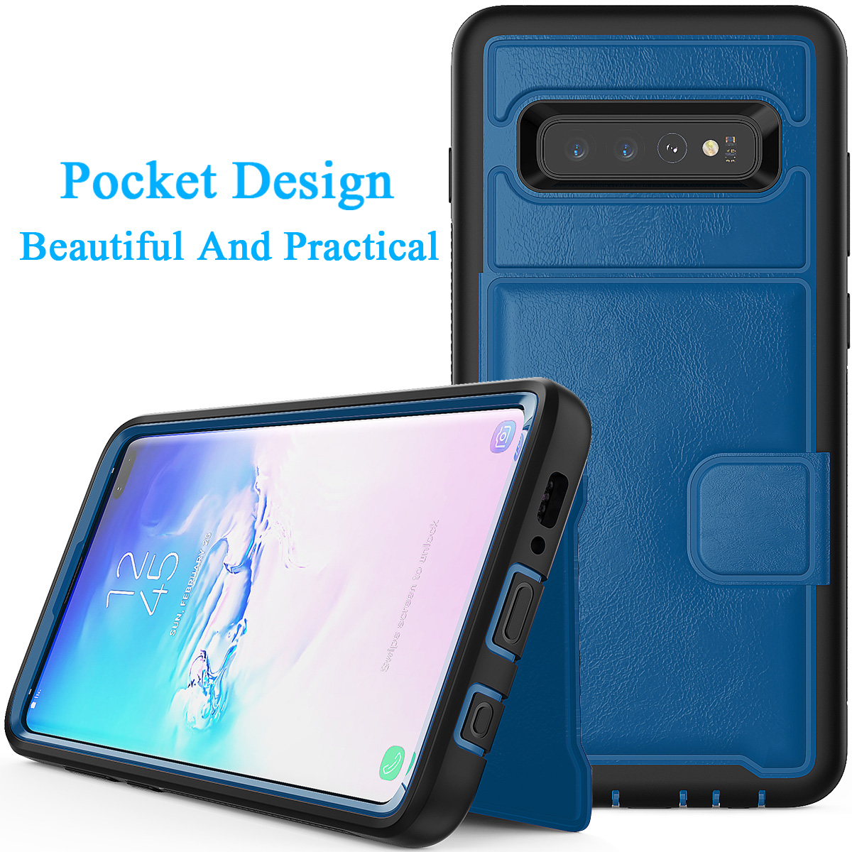 PU-Leather-Credit-Card-Holder-Phone-Case-For-Samsung-Galaxy-S10-Plus-S10e-2019 thumbnail 33