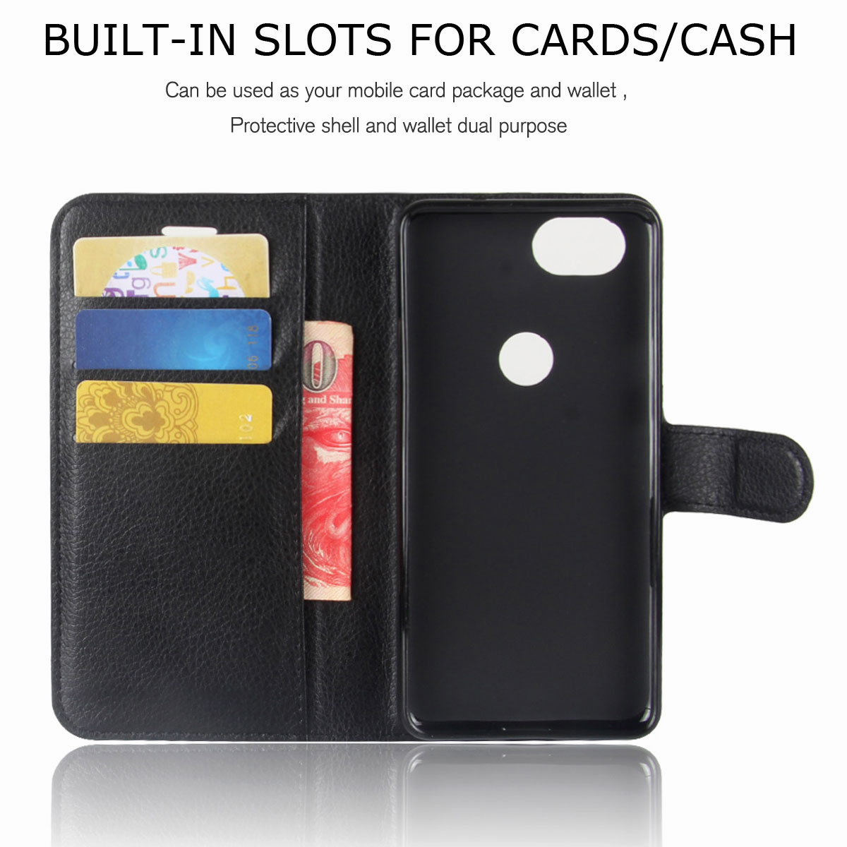 For-Google-Pixel-2-Pixel-XL-2XL-Business-Leather-Card-Holder-Wallet-Phone-Case thumbnail 14