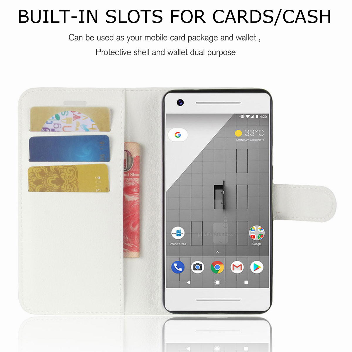 For-Google-Pixel-2-Pixel-XL-2XL-Business-Leather-Card-Holder-Wallet-Phone-Case thumbnail 20