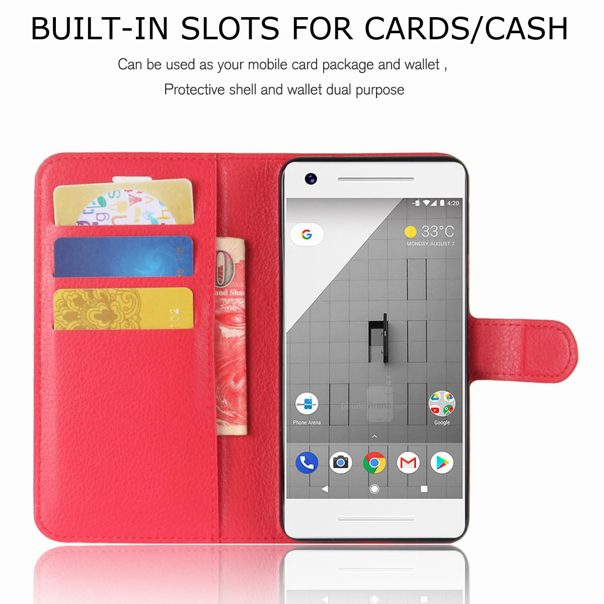 For-Google-Pixel-2-Pixel-XL-2XL-Business-Leather-Card-Holder-Wallet-Phone-Case thumbnail 26