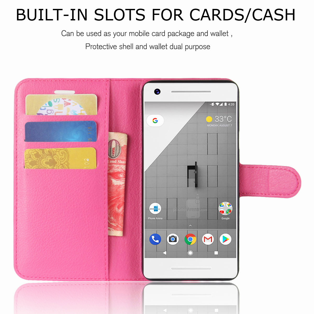 For-Google-Pixel-2-Pixel-XL-2XL-Business-Leather-Card-Holder-Wallet-Phone-Case thumbnail 32