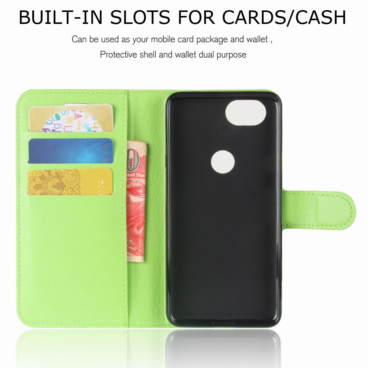 For-Google-Pixel-2-Pixel-XL-2XL-Business-Leather-Card-Holder-Wallet-Phone-Case thumbnail 50