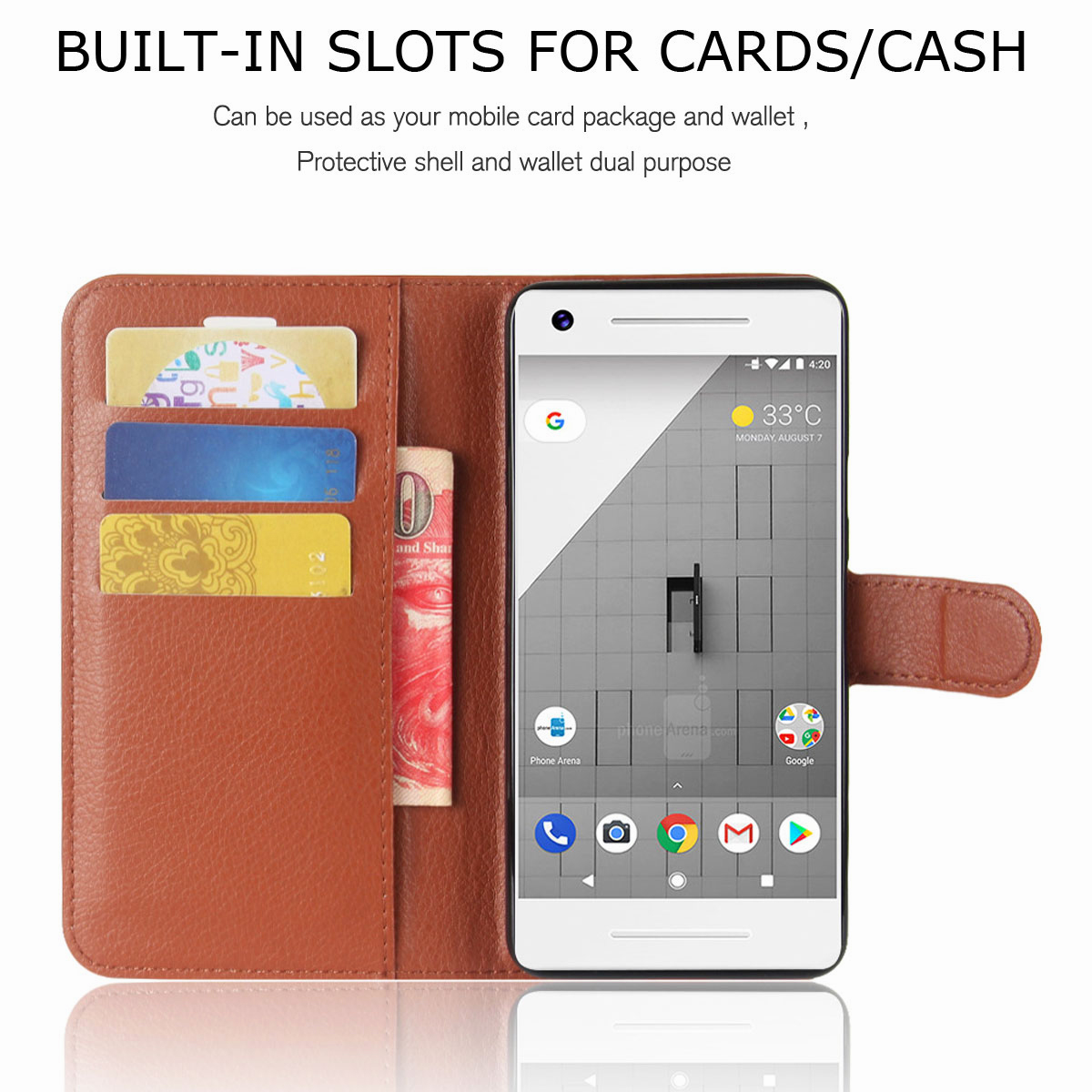 For-Google-Pixel-2-Pixel-XL-2XL-Business-Leather-Card-Holder-Wallet-Phone-Case thumbnail 62