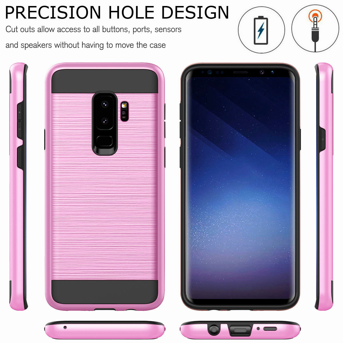new product f9eaf ea12c Details about For Samsung Galaxy J6 J4 J8 2018 Shockproof Rugged Protective  Phone Case Cover