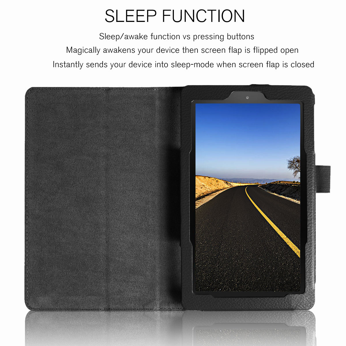 Details about For Amazon Kindle Fire 7 HD 10 8 2017 7th Gen Magnetic  Leather Smart Stand Case