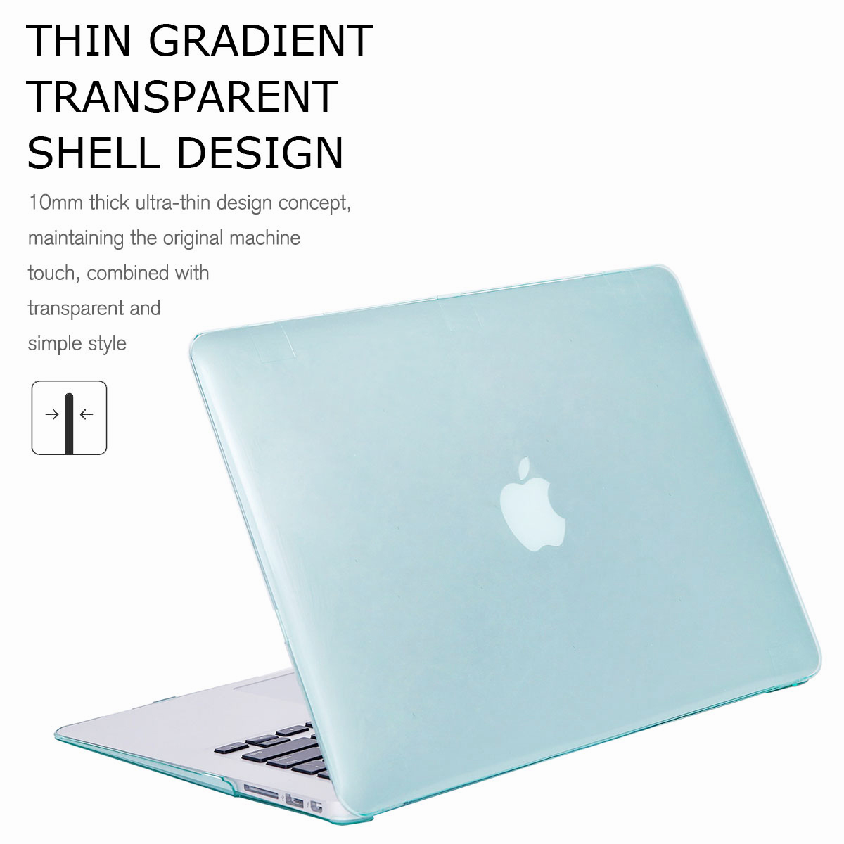 For-Macbook-Air-11-034-Air-13-inch-Rubberized-Hard-Case-Clear-Laptop-Keyboard-Shell thumbnail 23