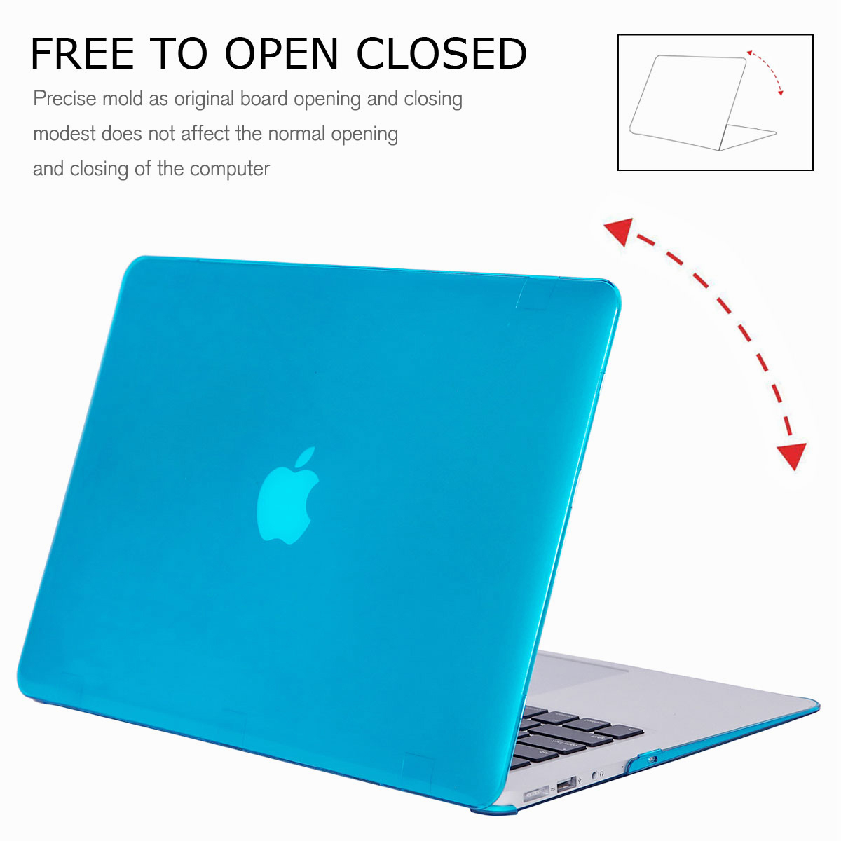 For-Macbook-Air-11-034-Air-13-inch-Rubberized-Hard-Case-Clear-Laptop-Keyboard-Shell thumbnail 28