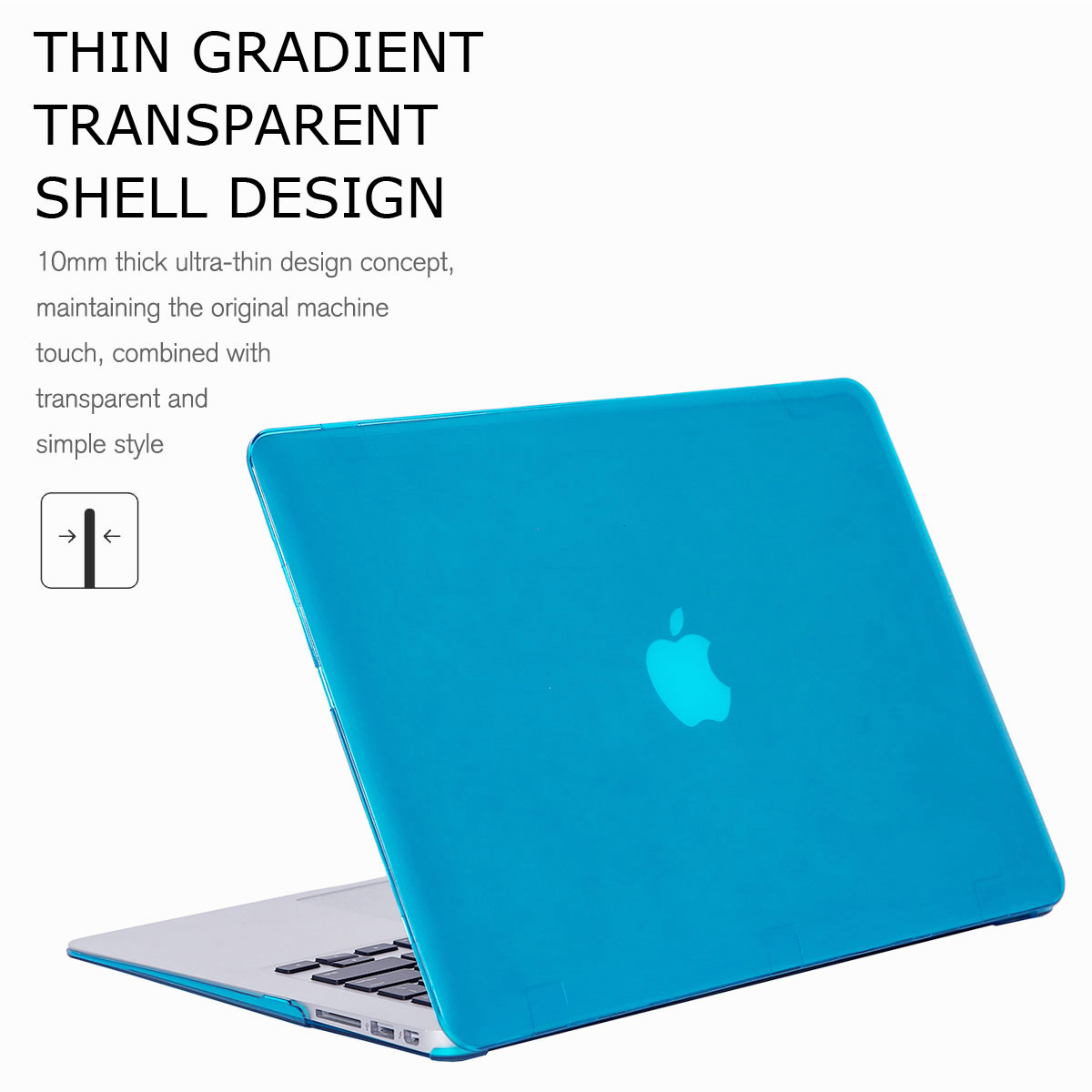 For-Macbook-Air-11-034-Air-13-inch-Rubberized-Hard-Case-Clear-Laptop-Keyboard-Shell thumbnail 30