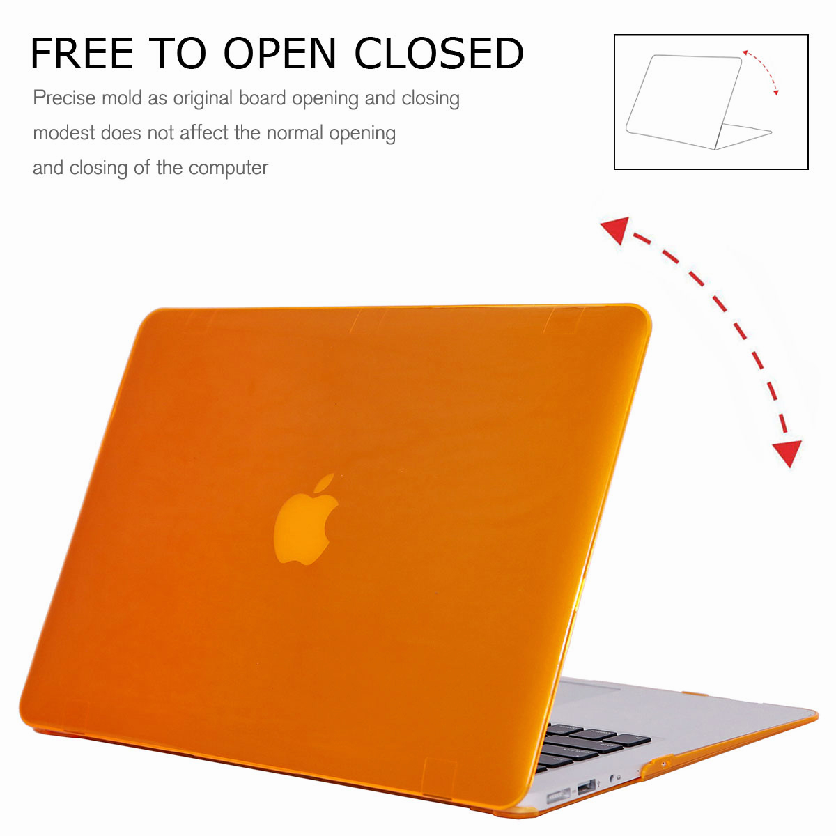 For-Macbook-Air-11-034-Air-13-inch-Rubberized-Hard-Case-Clear-Laptop-Keyboard-Shell thumbnail 35