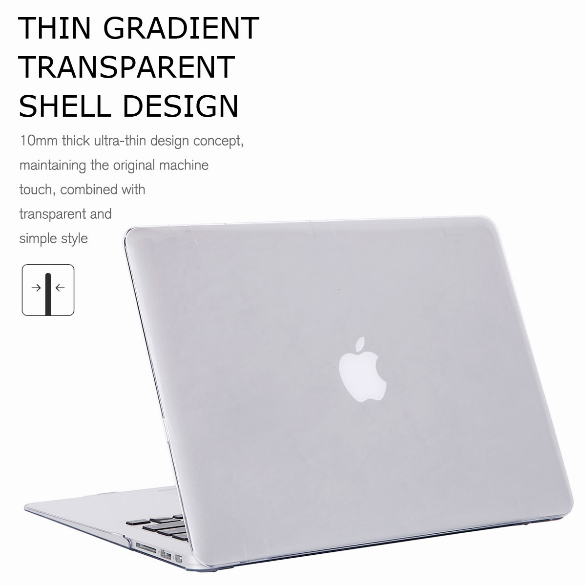 For-Macbook-Air-11-034-Air-13-inch-Rubberized-Hard-Case-Clear-Laptop-Keyboard-Shell thumbnail 44