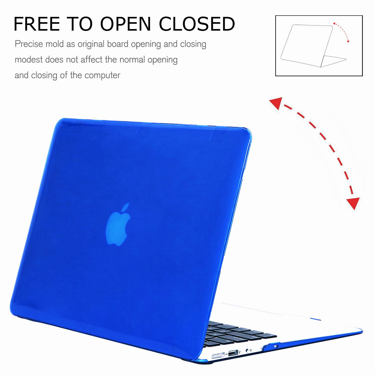 For-Macbook-Air-11-034-Air-13-inch-Rubberized-Hard-Case-Clear-Laptop-Keyboard-Shell thumbnail 56