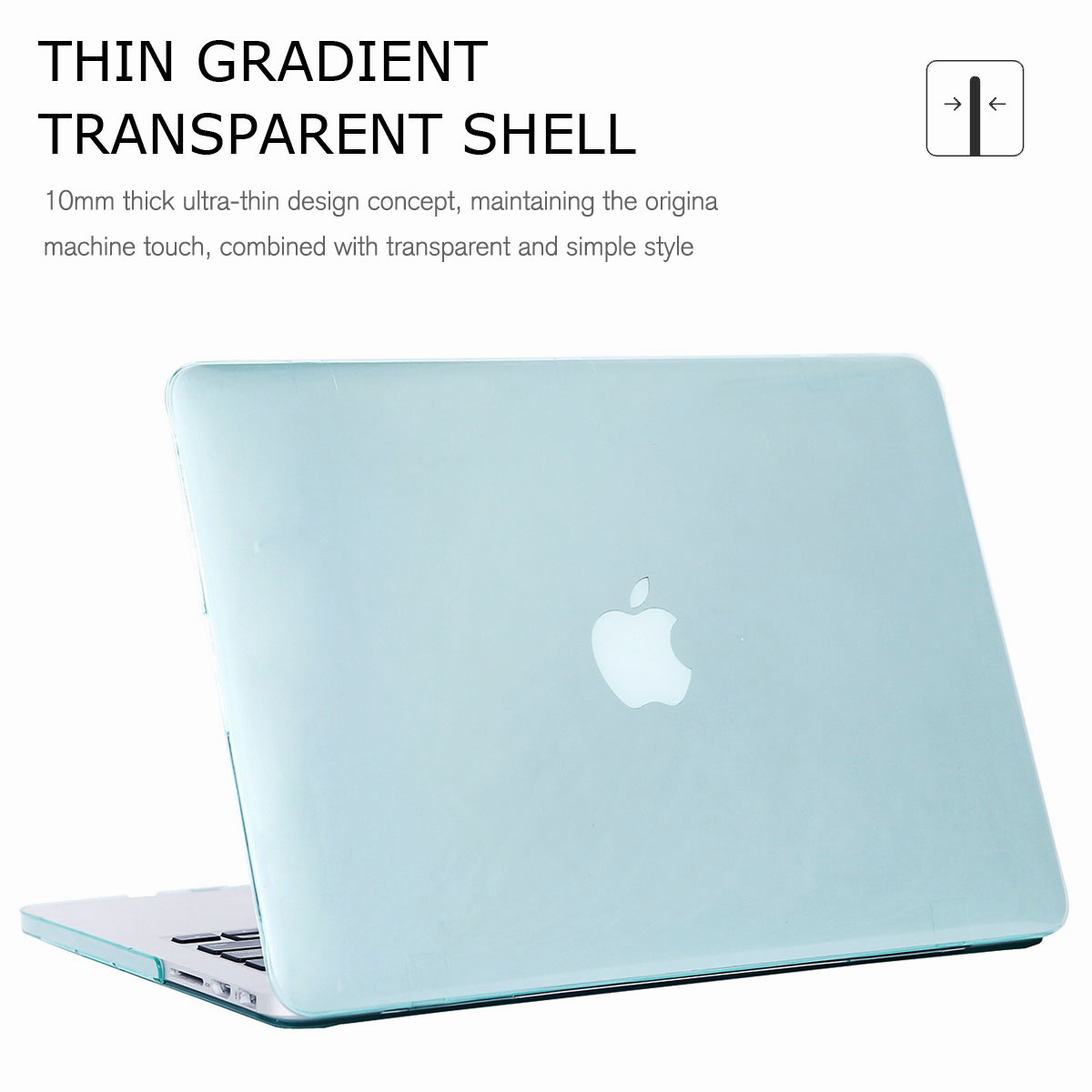 For-Macbook-Retina-12-034-13-034-15-034-Rubberized-Hard-Laptop-Case-Clear-Keyboard-Shell thumbnail 23
