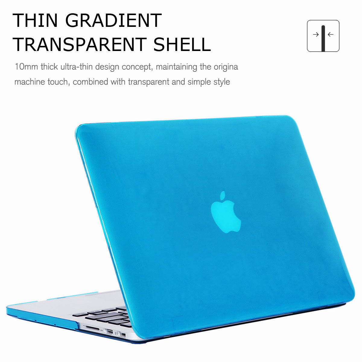 For-Macbook-Retina-12-034-13-034-15-034-Rubberized-Hard-Laptop-Case-Clear-Keyboard-Shell thumbnail 30