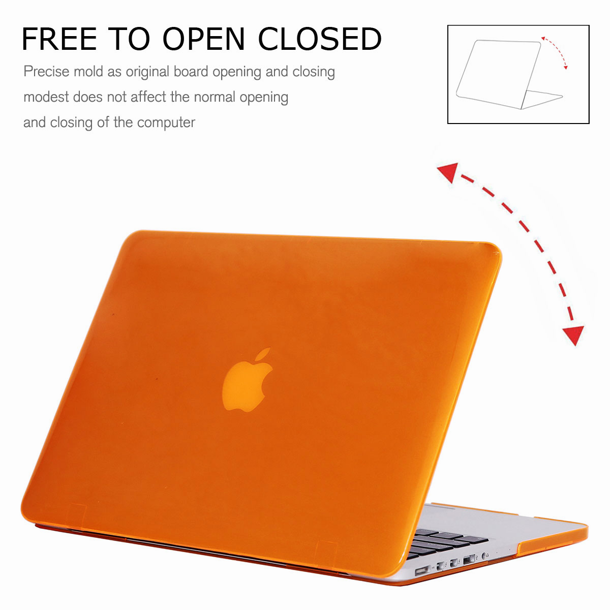 For-Macbook-Retina-12-034-13-034-15-034-Rubberized-Hard-Laptop-Case-Clear-Keyboard-Shell thumbnail 35