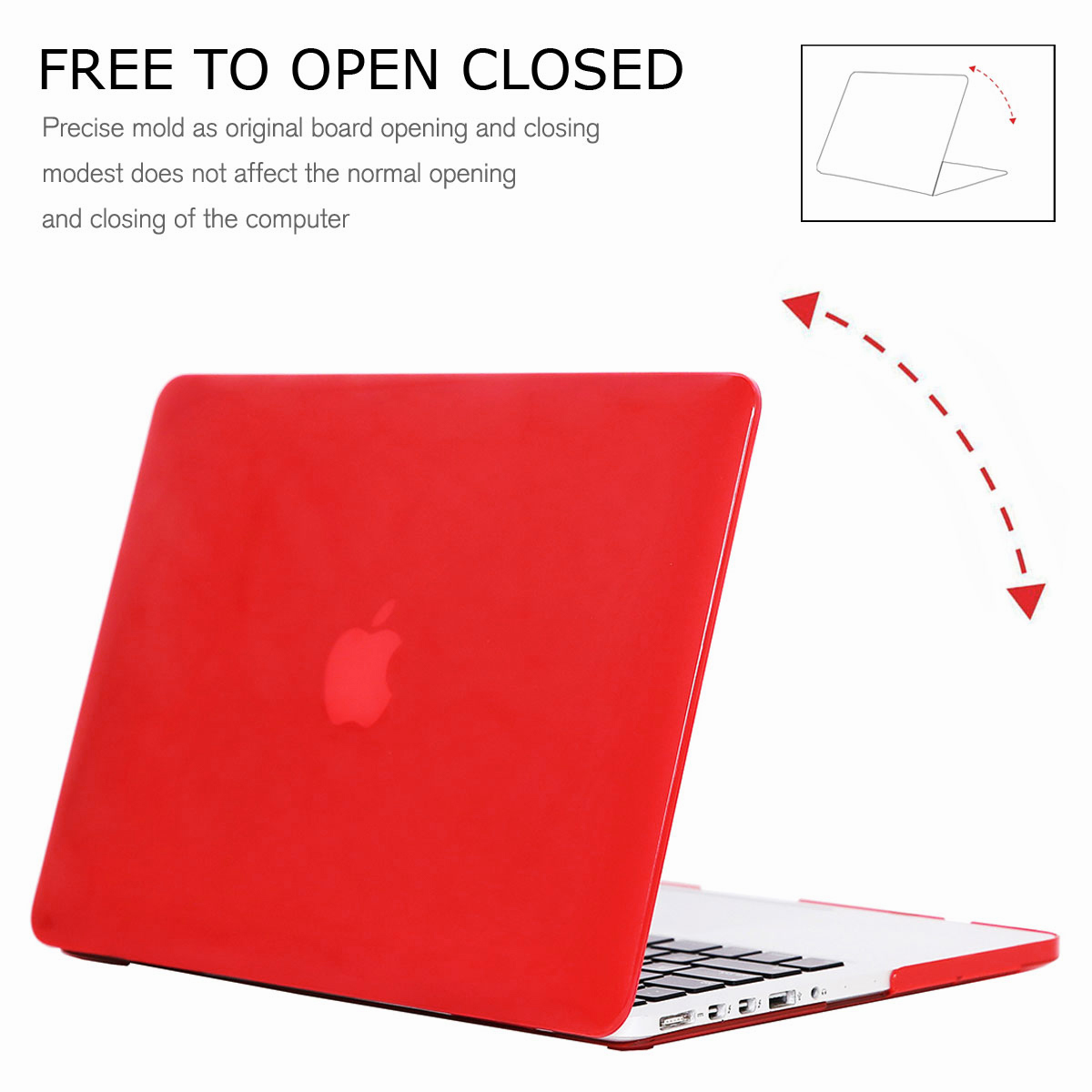 For-Macbook-Retina-12-034-13-034-15-034-Rubberized-Hard-Laptop-Case-Clear-Keyboard-Shell thumbnail 77