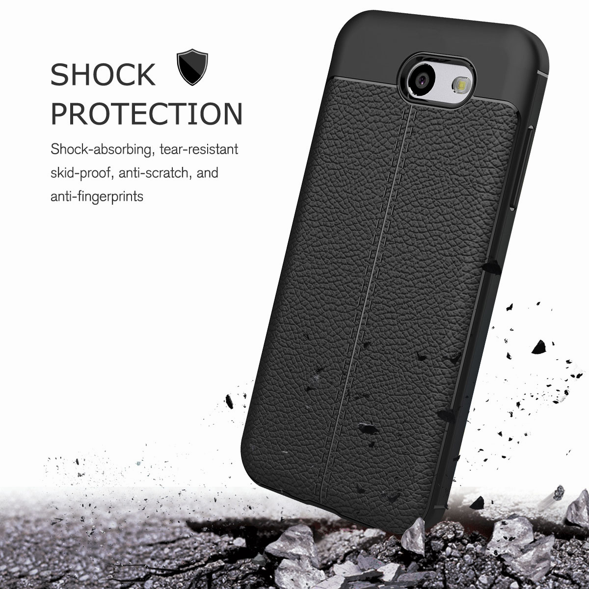 Luxury Shockproof Silicone Soft Case For Samsung Galaxy J3 Emerge Softcase Thin Droff Matte Black J5 Prime