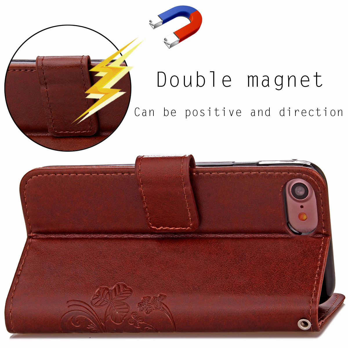 For-Apple-iPhone-Phones-Soft-Leather-Magnetic-Wallet-Card-Holder-Sim-Case-Cover thumbnail 16