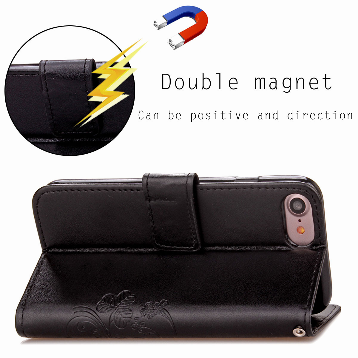 For-Apple-iPhone-Phones-Soft-Leather-Magnetic-Wallet-Card-Holder-Sim-Case-Cover thumbnail 40