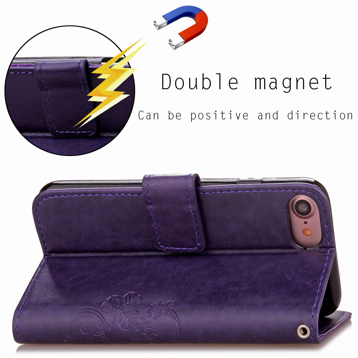 For-Apple-iPhone-Phones-Soft-Leather-Magnetic-Wallet-Card-Holder-Sim-Case-Cover thumbnail 46