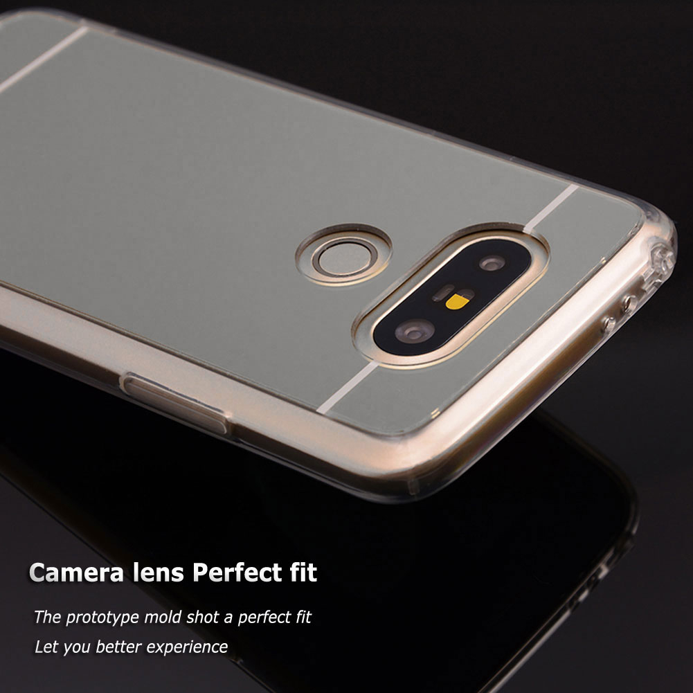 newest 6971a e9b5b Details about For LG G5 Shockproof Mirror Rubber TPU Rugged Bumper Lady  Case Skin Soft Cover