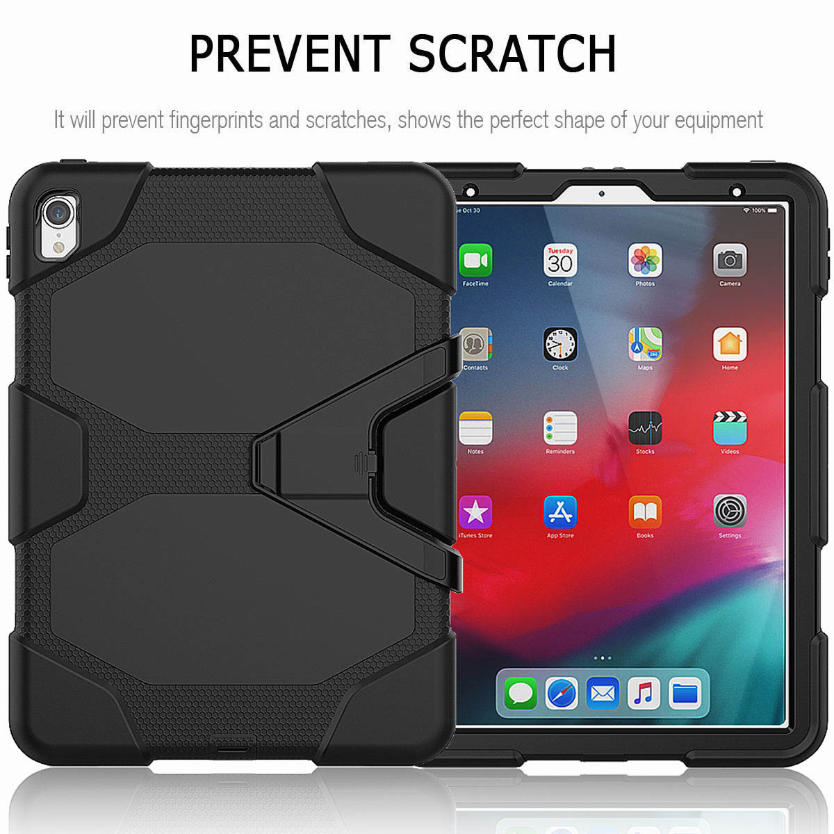 For-iPad-Pro-11-039-039-2018-Shockproof-Hybrid-Rugged-Stand-Case-with-Screen-Protector thumbnail 14