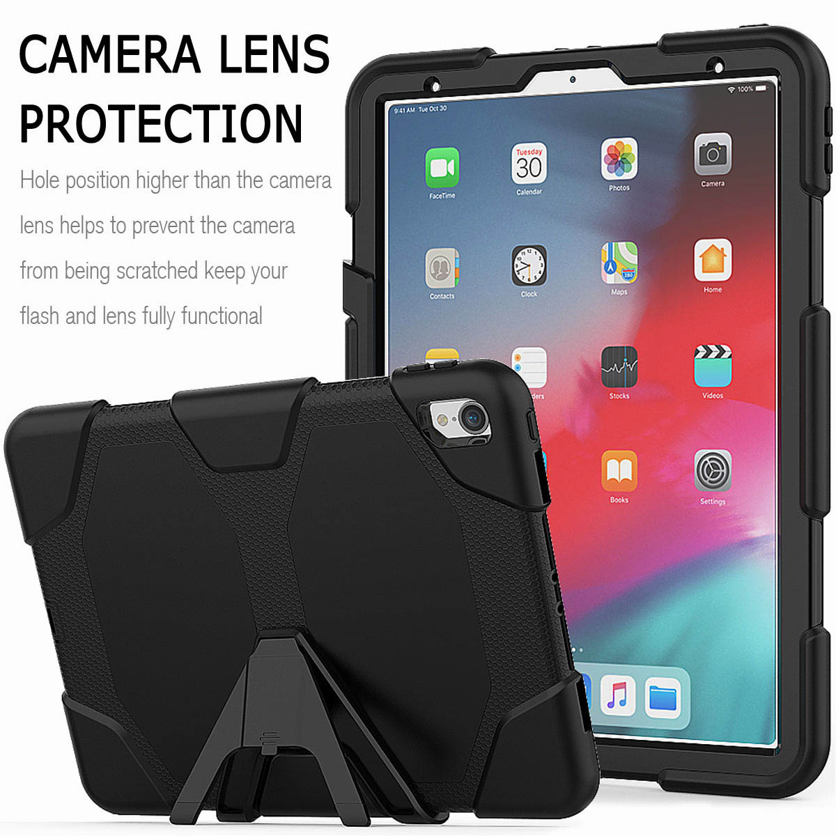 For-iPad-Pro-11-039-039-2018-Shockproof-Hybrid-Rugged-Stand-Case-with-Screen-Protector thumbnail 15