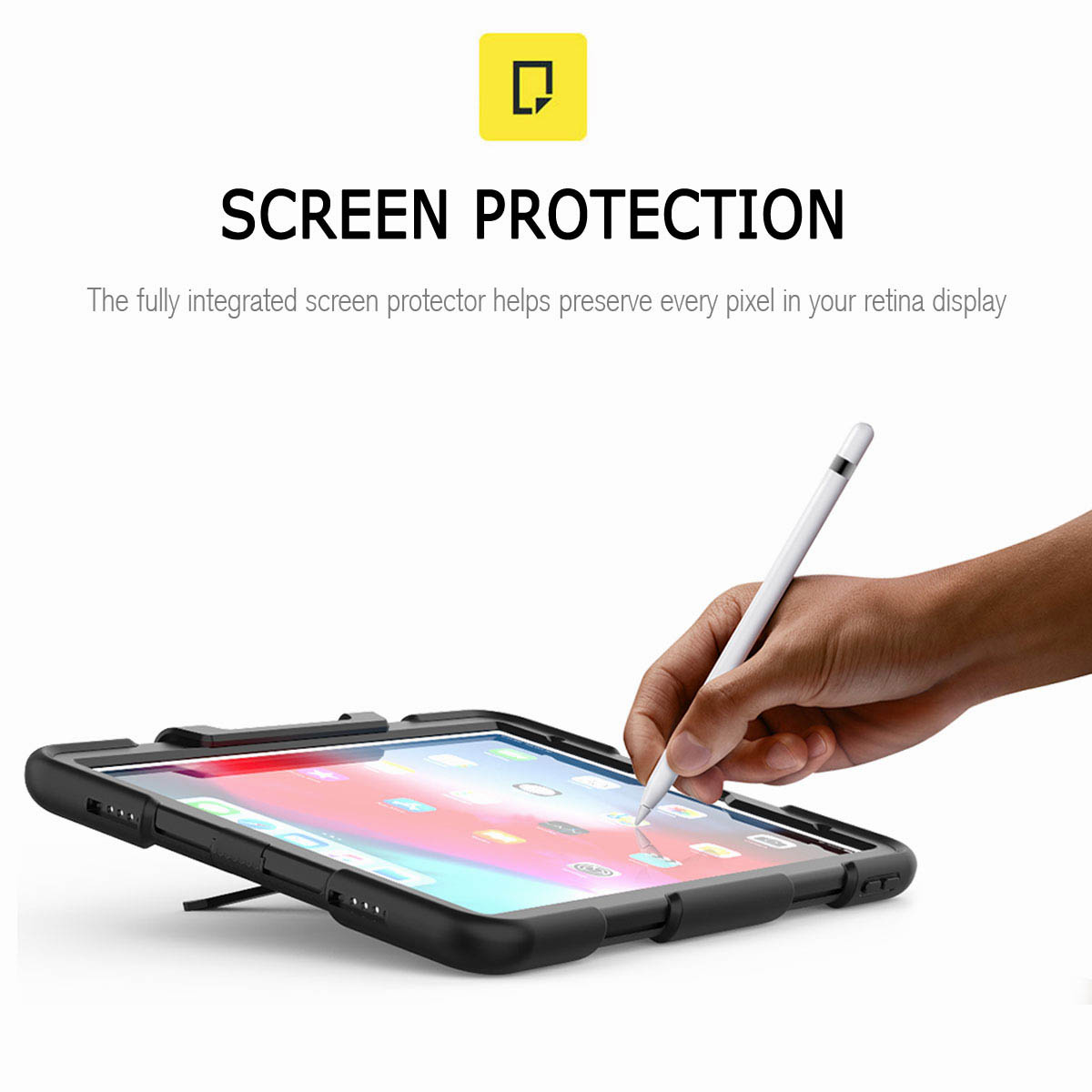 For-iPad-Pro-11-039-039-2018-Shockproof-Hybrid-Rugged-Stand-Case-with-Screen-Protector thumbnail 18