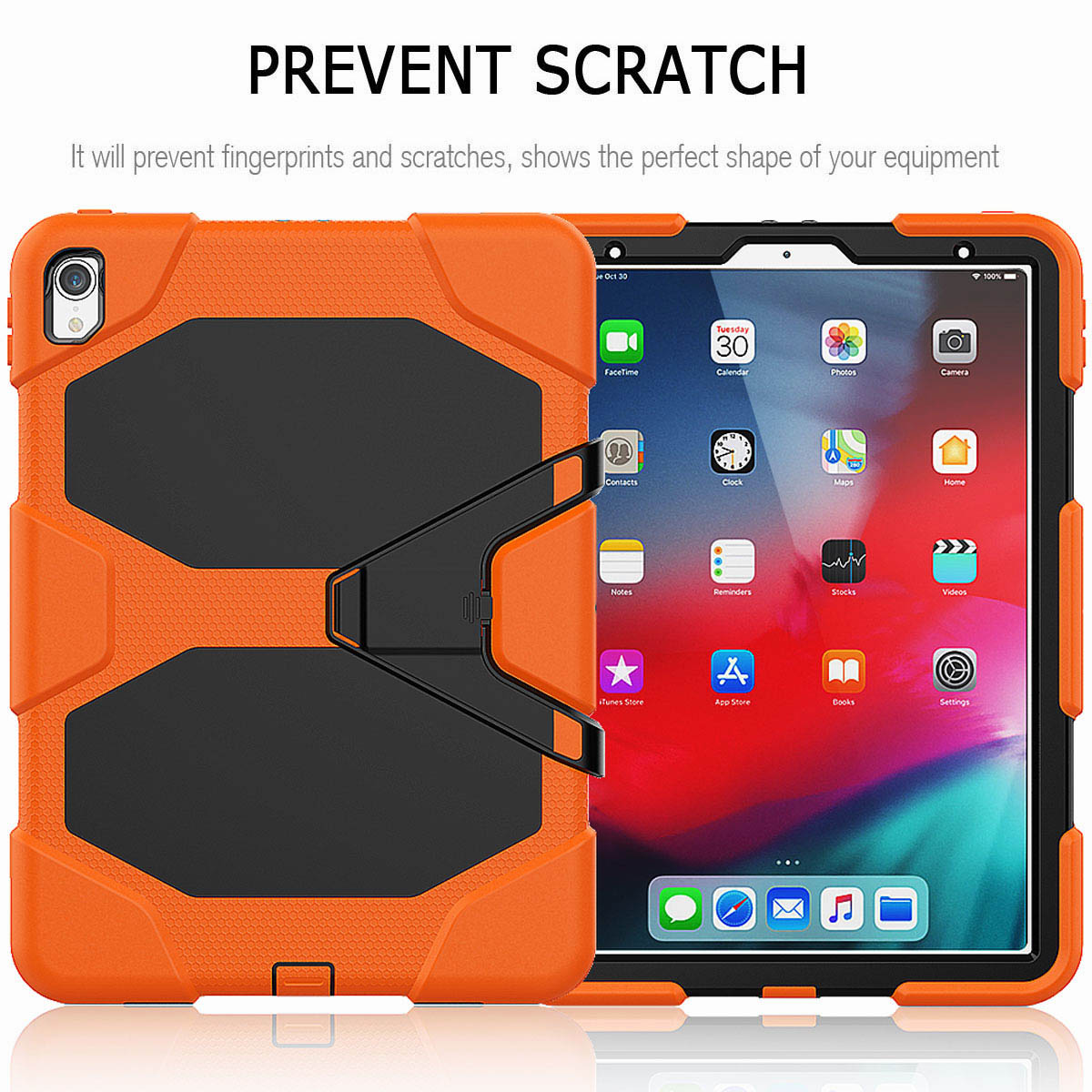 For-iPad-Pro-11-039-039-2018-Shockproof-Hybrid-Rugged-Stand-Case-with-Screen-Protector thumbnail 21