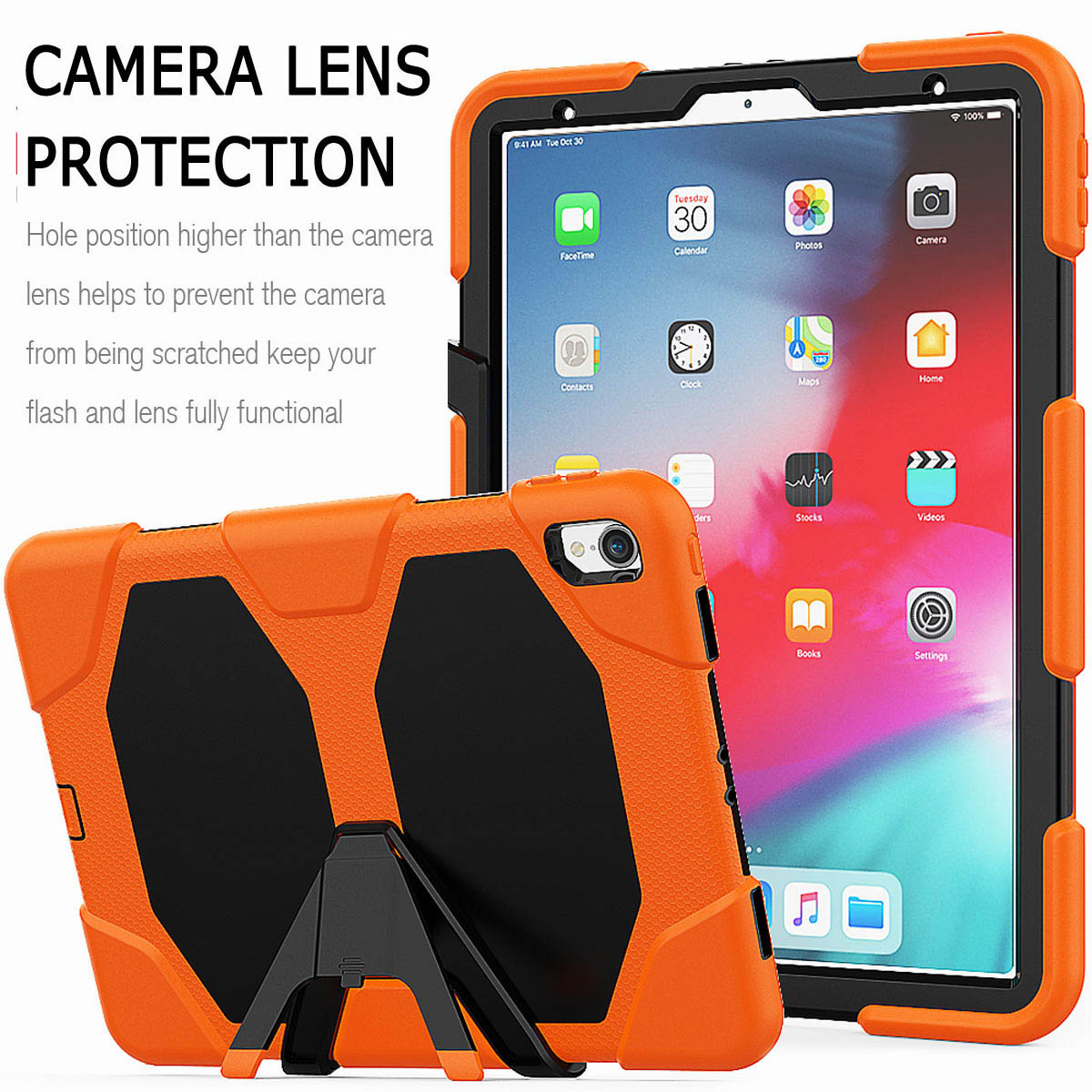 For-iPad-Pro-11-039-039-2018-Shockproof-Hybrid-Rugged-Stand-Case-with-Screen-Protector thumbnail 22