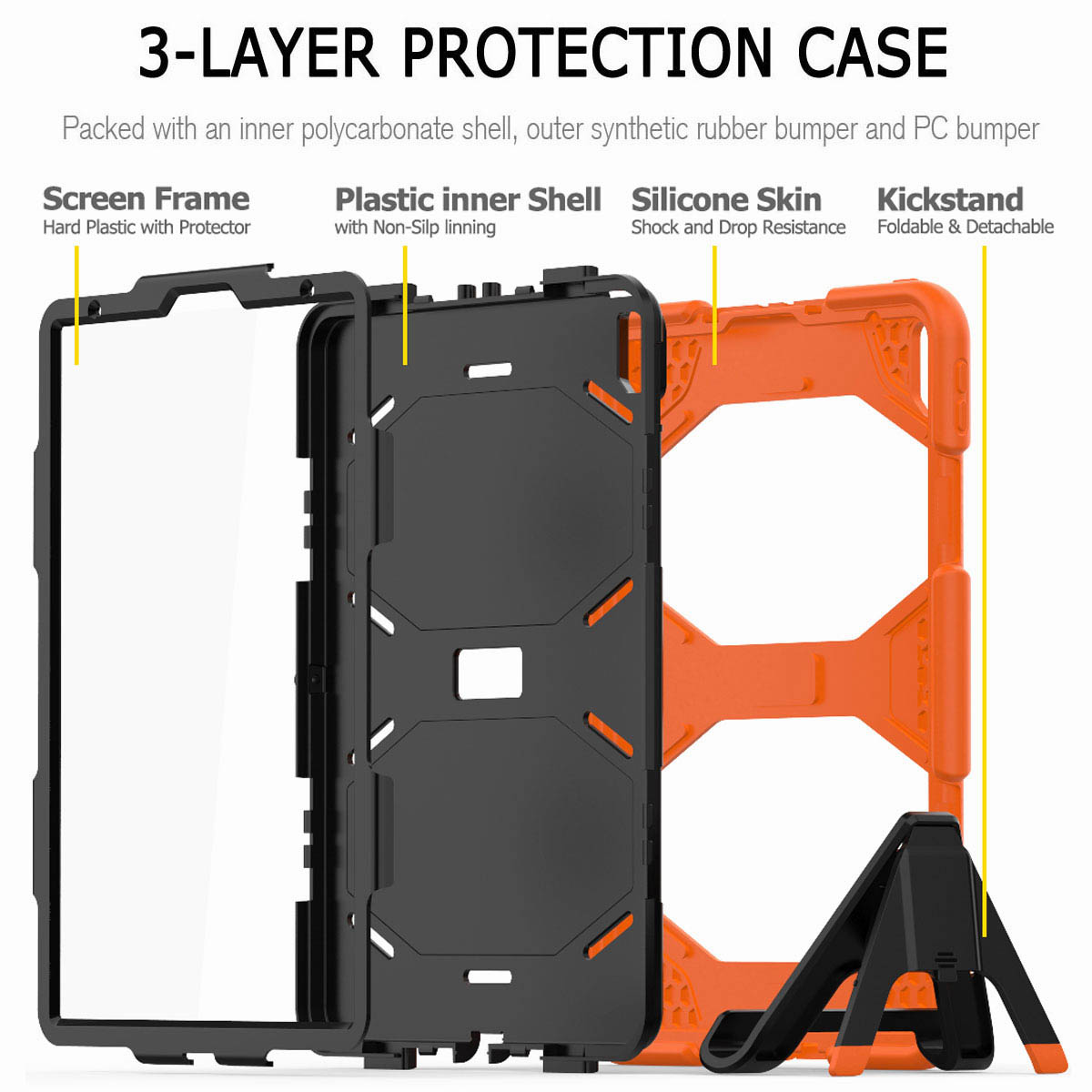 For-iPad-Pro-11-039-039-2018-Shockproof-Hybrid-Rugged-Stand-Case-with-Screen-Protector thumbnail 24