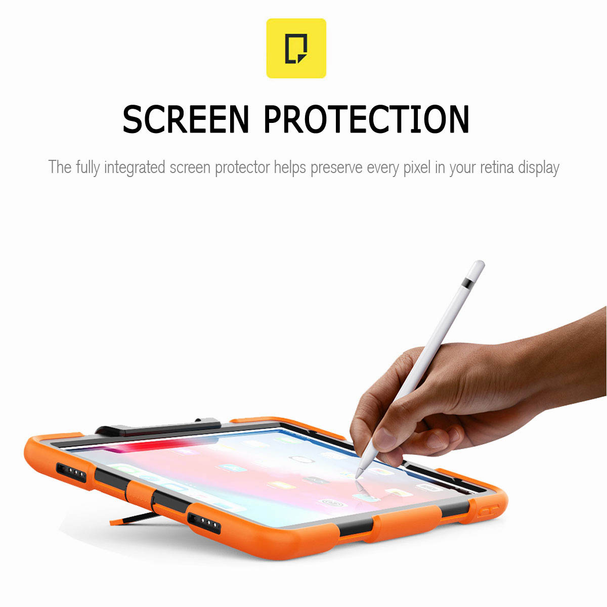 For-iPad-Pro-11-039-039-2018-Shockproof-Hybrid-Rugged-Stand-Case-with-Screen-Protector thumbnail 25