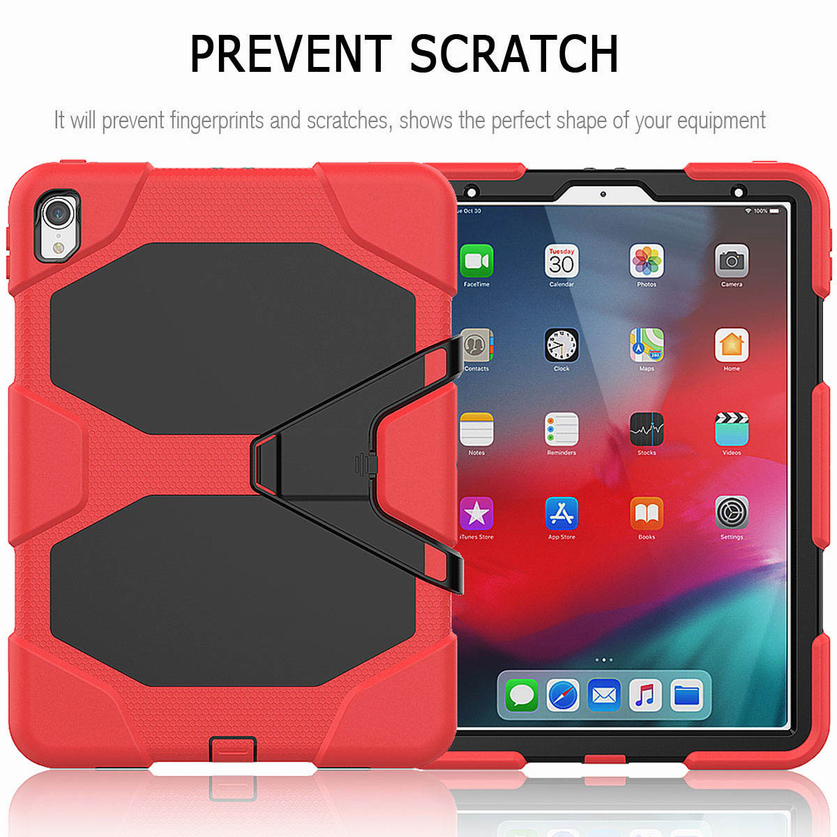 For-iPad-Pro-11-039-039-2018-Shockproof-Hybrid-Rugged-Stand-Case-with-Screen-Protector thumbnail 28