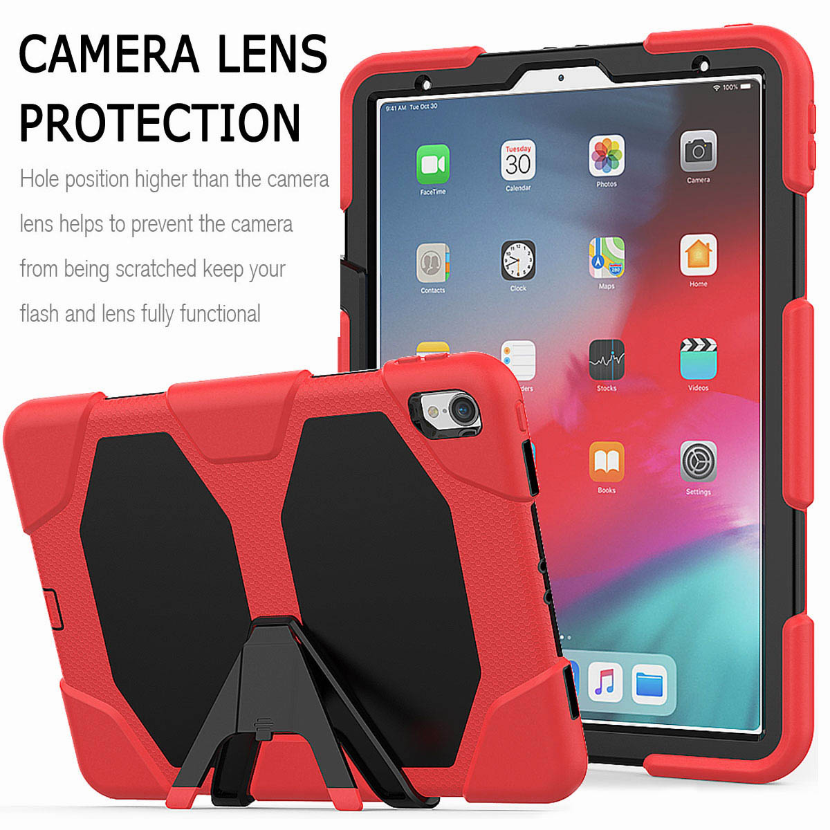 For-iPad-Pro-11-039-039-2018-Shockproof-Hybrid-Rugged-Stand-Case-with-Screen-Protector thumbnail 29
