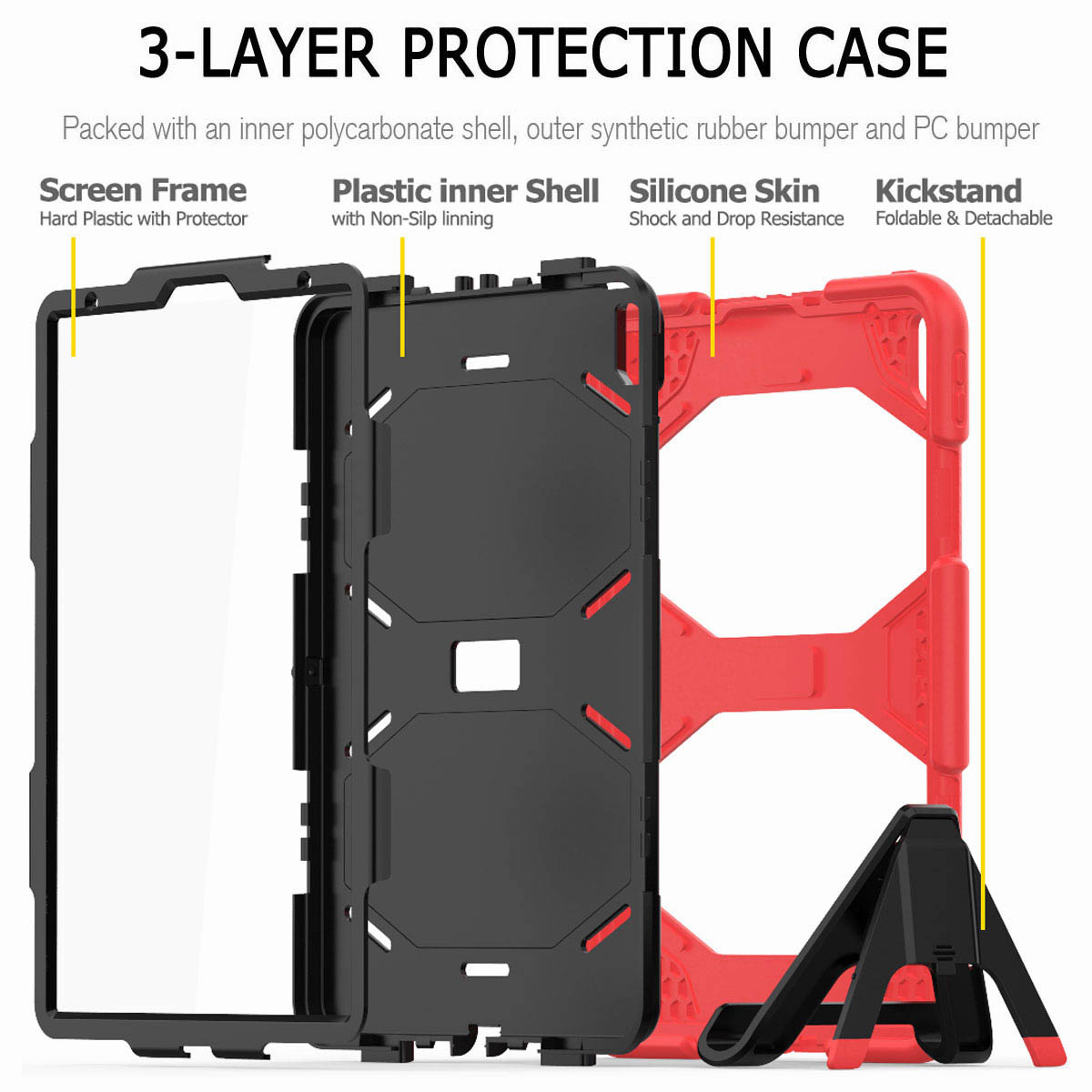 For-iPad-Pro-11-039-039-2018-Shockproof-Hybrid-Rugged-Stand-Case-with-Screen-Protector thumbnail 31