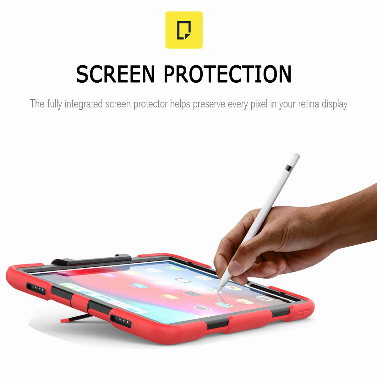For-iPad-Pro-11-039-039-2018-Shockproof-Hybrid-Rugged-Stand-Case-with-Screen-Protector thumbnail 32