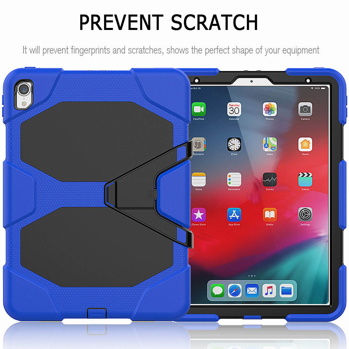 For-iPad-Pro-11-039-039-2018-Shockproof-Hybrid-Rugged-Stand-Case-with-Screen-Protector thumbnail 35
