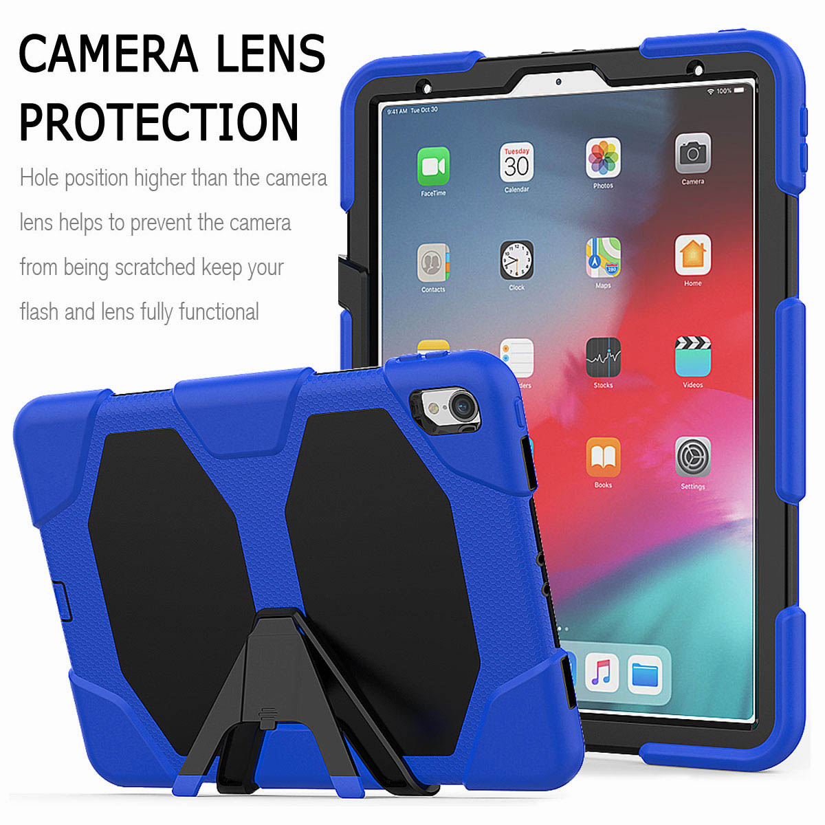 For-iPad-Pro-11-039-039-2018-Shockproof-Hybrid-Rugged-Stand-Case-with-Screen-Protector thumbnail 36